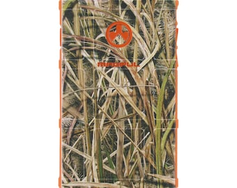 CUSTOM PRINTED Limited Edition - Authentic Made in U.S.A. Magpul Industries Field or Bump Case Mossy Oak Shadow Grass Blades - Safety Orange