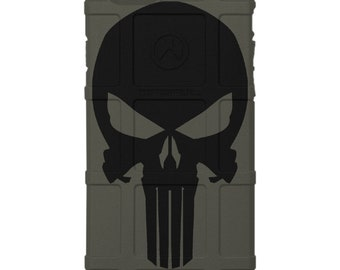 CUSTOM PRINTED Limited Edition - Authentic Made in U.S.A. Magpul Industries Field Case, Black Punisher
