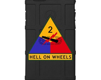 "CUSTOM PRINTED Limited Edition -  US Army 2nd Armored Division ""Hell on Wheels"""