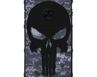 CUSTOM PRINTED Limited Edition - Authentic Made in U.S.A. Magpul Industries Field or Bump Case, US Navy Digi Camo Punisher