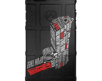 CUSTOM PRINTED Limited Edition Magpul, UAG or Pelican Case Jules Winnfield Pulp Fiction Ezekiel 25:17 Handgun Meme Case