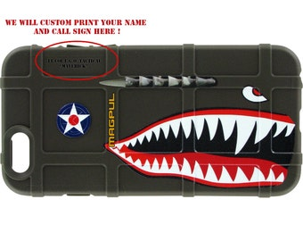 CUSTOM PRINTED Limited Edition -  P-40 Warhawk Army Airforce WWII Case on O. D. Green