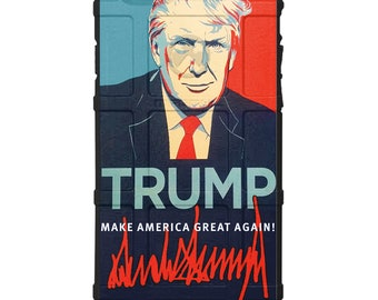 Custom Printed Limited Edition - Authentic Made in U.S.A. Magpul Industries Field Case, Donald Trump Signature Make America Great Again Case