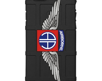 CUSTOM PRINTED Limited Edition - Authentic Made in U.S.A. Magpul Industries Field Case, US Army 82nd Airborne Division Wings (baaw)