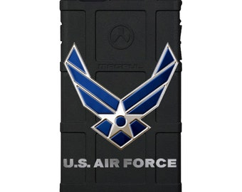 CUSTOM PRINTED Limited Edition - Authentic Made in U.S.A. Magpul Industries Field Case, U.S. Air Force Blue Logo