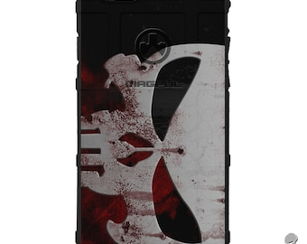 CUSTOM PRINTED Limited Edition - Authentic Made in U.S.A. Magpul Industries Field Case, Bloody Punisher Sideways