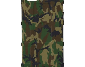 CUSTOM PRINTED Limited Edition - Authentic Made in U.S.A. Magpul Industries Field Case, ERDL U.S. Woodlands Camouflage