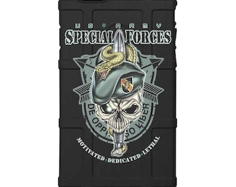 CUSTOM PRINTED Limited Edition - Authentic Made in U.S.A. Magpul Industries Field Case, U.S. Army Special Forces