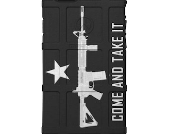 CUSTOM PRINTED Limited Edition - Authentic Made in U.S.A. Magpul Industries Field Case, Molon Labe, Come and Take It AR-15 Rifle -cti