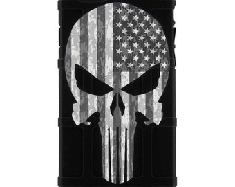 CUSTOM PRINTED Limited Edition - Punisher Subdued US Flag Desert Digi Camo