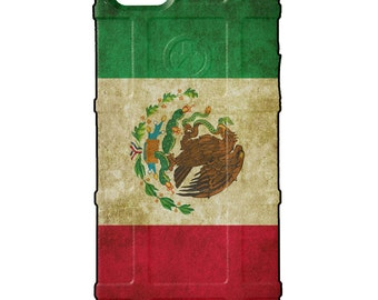 CUSTOM PRINTED Limited Edition - Authentic Made in U.S.A. Magpul Industries Field Case, Weathered Mexican Flag