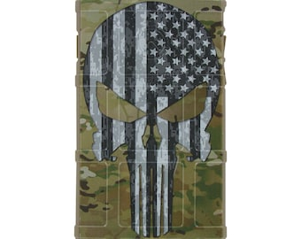 Custom Printed Limited Edition - Multicam OCP Scorpion Camouflage, Subdued US Flag Punisher