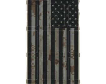 Custom Printed Limited Edition - US Subdued Flag on Desert Marpat Camouflage