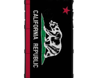CUSTOM PRINTED Limited Edition - Authentic Made in U.S.A. Magpul Field Case, California Republic Flag, Inverse Black Subdued (bcal)