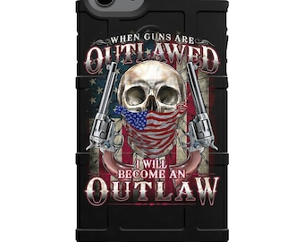 CUSTOM PRINTED Limited Edition - Authentic Made in U.S.A. Magpul Industries Field Case, 2nd Amendment American Outlaw 2A
