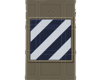 "CUSTOM PRINTED Limited Edition - Authentic Made in U.S.A. Magpul Industries Field Case, US Army 3rd Infantry Division Patch ""Marne Division"""