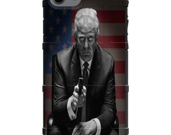 Custom Printed Limited Edition - Authentic Made in U.S.A. Magpul Industries Field Case, Trump Make America Great Again Flag Phone Case