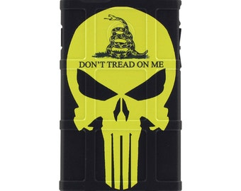 CUSTOM PRINTED Limited Edition - Authentic Made in U.S.A. Magpul Industries Field Case Gadsden Punisher, Don't Tread on Me Punisher