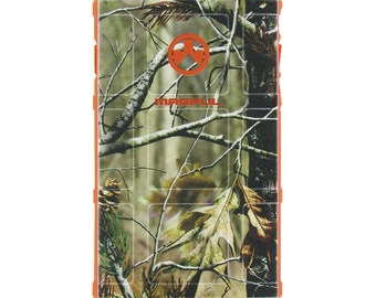 CUSTOM PRINTED Limited Edition - Authentic Made in U.S.A. Magpul Industries Field or Bump Case Real Tree Camouflage on Safety Orange