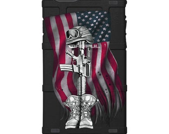 CUSTOM PRINTED Limited Edition - Authentic Made in U.S.A. Magpul Industries Field Case, Fallen Soldier