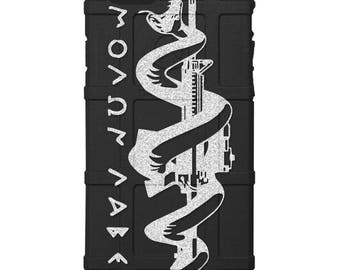 CUSTOM PRINTED Limited Edition - Authentic Made in U.S.A. Magpul Industries Field Case, Molon Labe, Come and Take Em' Rifle -bml1