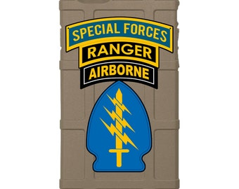 CUSTOM PRINTED Limited Edition - Authentic Made in U.S.A. Magpul Industries Field Case Special Forces, Ranger, Airborne. Triple Canopy Patch