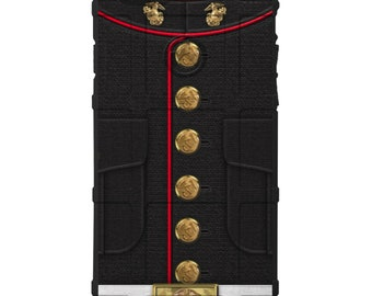 CUSTOM PRINTED Limited Edition - Authentic Made in U.S.A. Magpul Industries Field or Bump Case, USMC Dress Uniform -usmc-uni