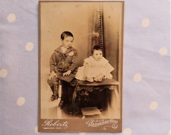 Antique 1930/'s Black and White Photograph Man and Wife Reuse Repurpose Serious