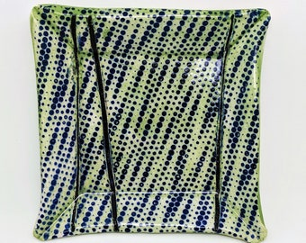 Green and Zigzag Trinket Plate