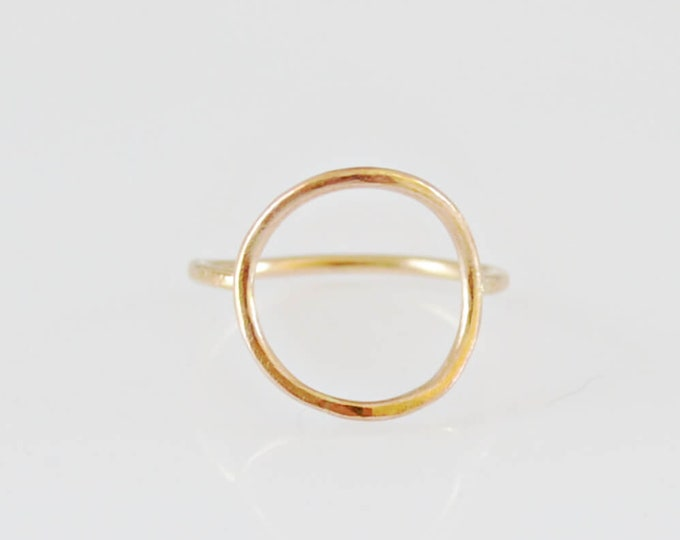 Gold Open Circle Karma Ring by Lepa Jewelry