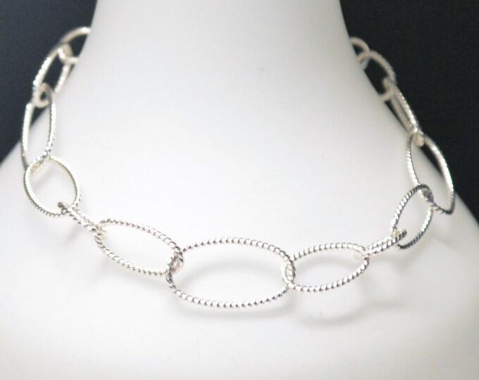 Delicate Silver Oval Link Bracelet by Lepa Jewelry (K575)