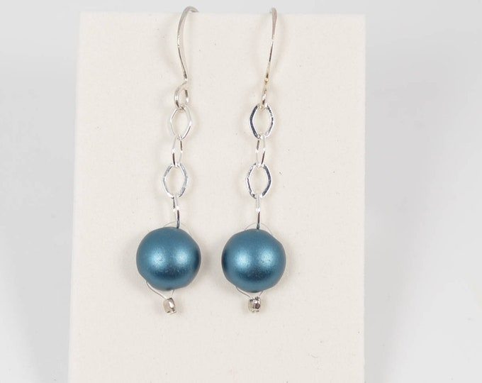 Teal Green Candy Drop Earrings by Lepa Jewelry (K519)