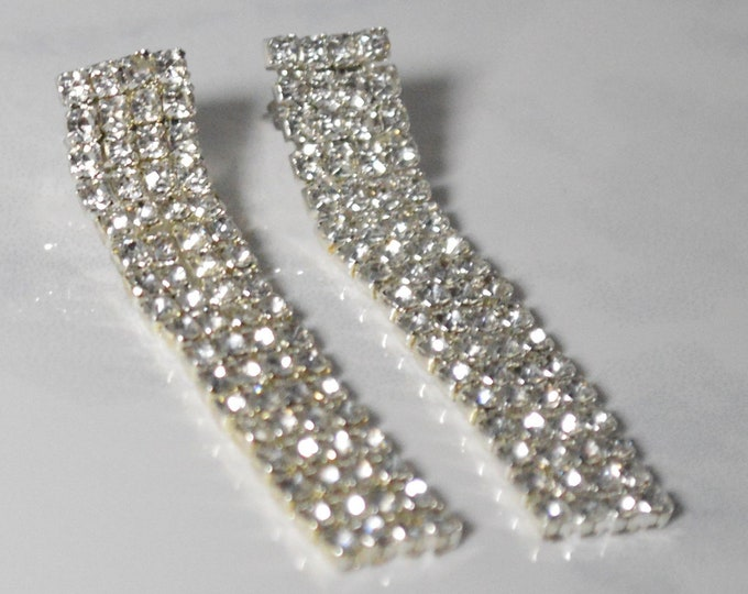 Elegant Crystal Bridesmaid Earrings by Lepa Jewelry (K555)