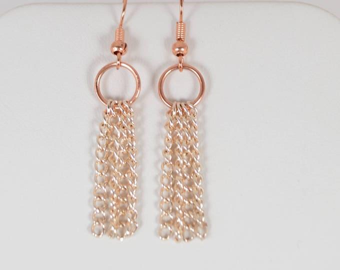 Rose Gold Chain Earrings By Lepa Jewelry (K503)