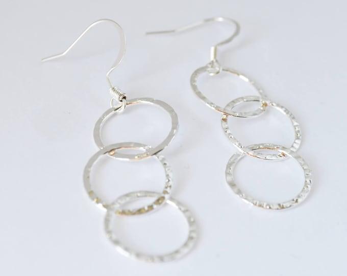 Delicate Silver Dangle Earrings - Lepa Jewelry (K539)