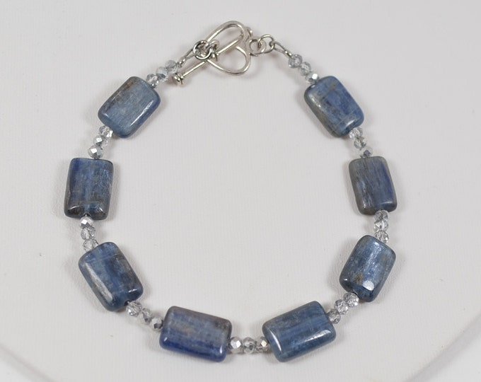 Blue Kyanite  Gemstone Bracelet By Lepa Jewelry (K532)