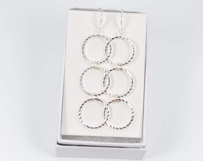 Silver Dangle Earrings for the Chic Woman by Lepa Jewelry (K505)