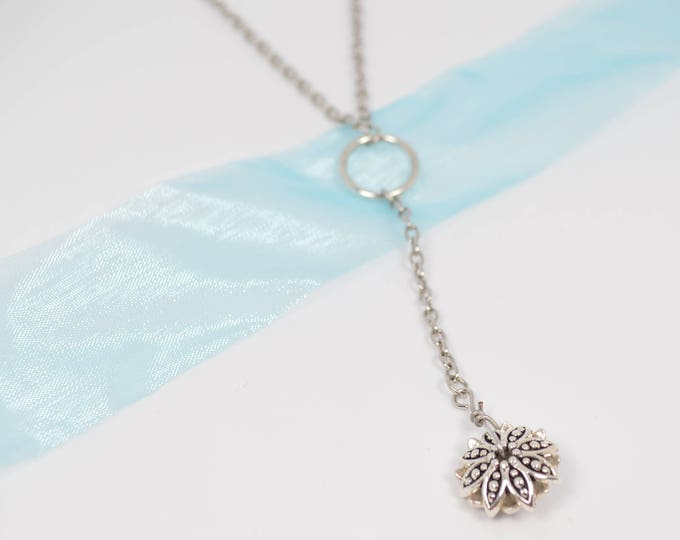 Silver Drop Necklace by Lepa Jewelry (K102)