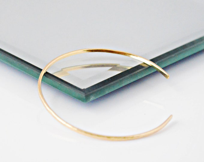 Gold Textured Bracelet, Thin Cuff Bracelet
