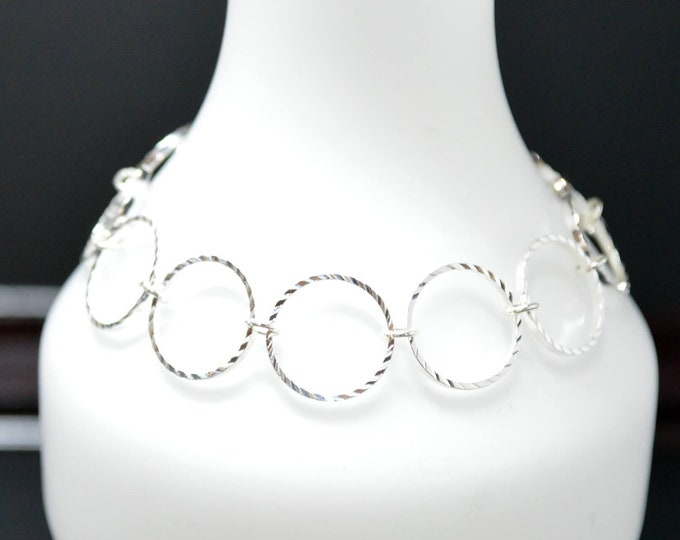 Silver Diamond Cut Bracelet By Lepa Jewelry (K511)