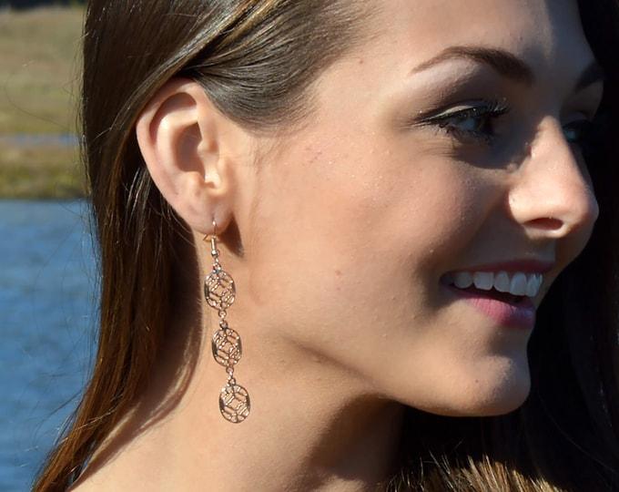 Rose Gold Trendy Boho Earrings by Lepa Jewelry (K527)