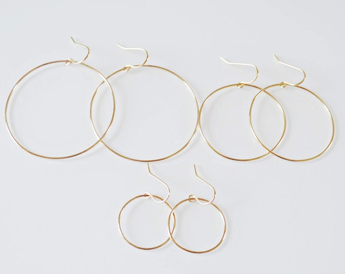Gold Hoop Dangle Earrigs - (K820)