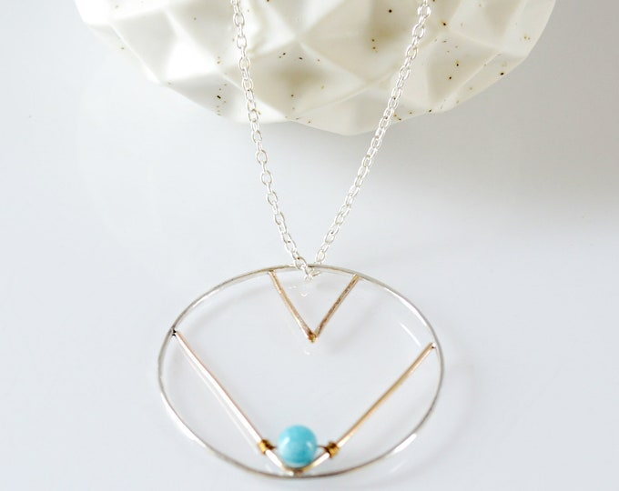 Southwestern Circle Pendant Necklace