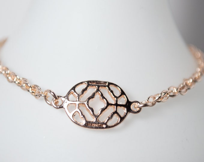 Elegant Rose Gold Bracelet by Lepa Jewelry (K528)
