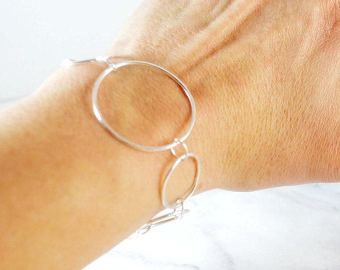 Silver Circles Bracelet by Lepa Jewelry