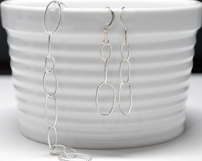 Delicate Silver Bracelet and Earring Set By Lepa Jewelry (K501)
