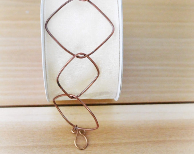 Geometric Copper Link Bracelet - Lepa Jewelry (K772)