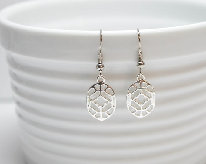 Silver Chic Filigree Drop Earrings by Lepa Jewelry (K581)