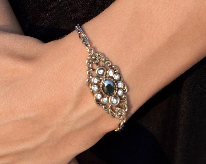 Antique Brass Filigree Bracelet by Lepa Jewelry (K513)