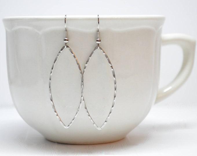 Everyday Silver L Hoop Earrings  by Lepa Jewelry (K582)